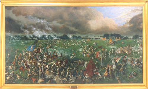 Painting of Battle of San Jacinto by Henry Arthur McArdle, 1895, from Texas State Preservation Board